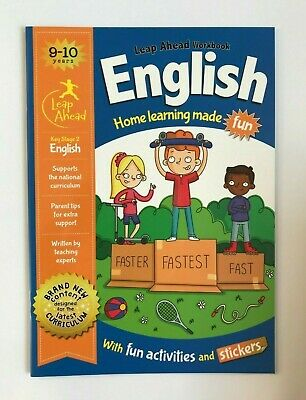 KS2 Maths & English Leap Ahead Home Learning Workbooks Set Ages 9-10 New Year 5 2