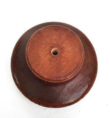 Gorgeous Maple Knob Wood Antique Drawer Pulls Vintage Mushroom Furniture Parts 6 • CAD $100.74