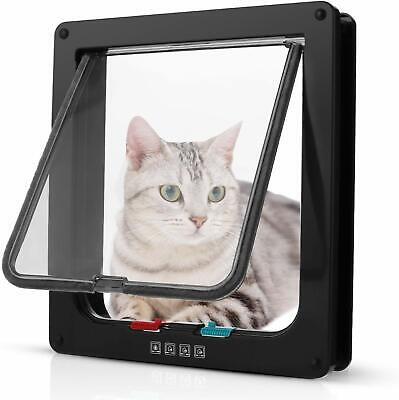 4Wege Katzentür Katzenklappe Haustierklappe S M L Eingangskontrolle Katze Klappe 8