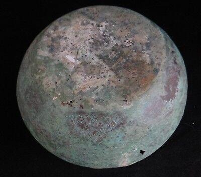 """Rare Ancient Celtic Copper Alloy/Bronze Bowl, 7th -11th c. 9 ¼""""wide x 4 ¼"""" t."""