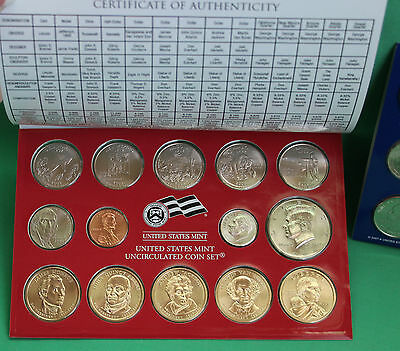 2008 P and D United States Mint ANNUAL Uncirculated Coin Set 28 BU Coins and COA 6