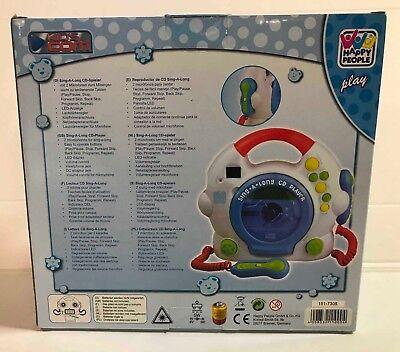 Happy People 11000 - CD Player, mit 2 Mikrophonen