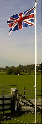 20ft Flagpole Aluminium Flag Pole With 2 Flags 2