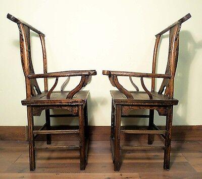 Antique Chinese High Back Arm Chairs (5511) (Pair), Circa 1800-1849 10