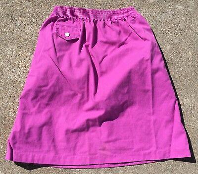 Vintage Kim Stacy Skirt Made In USA 70s 80s Girls 7 Elastic Waist 8