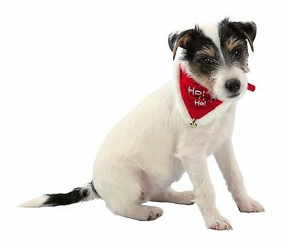 New Christmas Dog Or Cat Dress Up Red Collar & Neckerchief Bandana Neki 4 Sizes 5