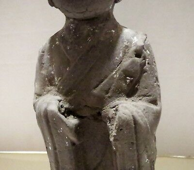 Large Old Chinese GUARDIAN TOMB ATTENDANT Antique - Pottery Statue Sculpture 4