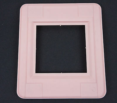 Vtg Pink Switch Oulet Cover Decorative Wall Protector Shield Plate Double Gang 3