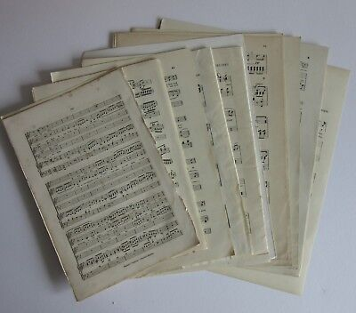 25 Vintage Music Sheets Crafts Decoupage Art Projects Scrapbook Junk Journal #2