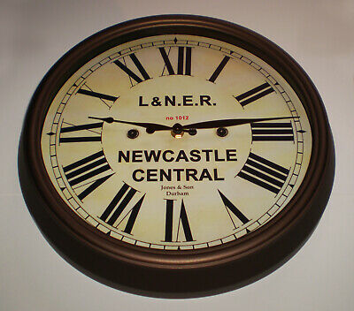 London North Eastern Railway LNER Style Clock, Newcastle Station. 2
