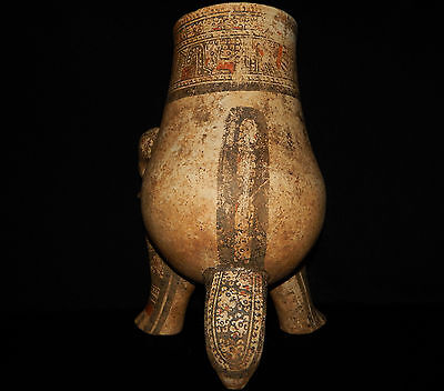 Pre-Columbian Jaguar Effigy Vessel, Large, Rare, Nicoya, Authentic 8