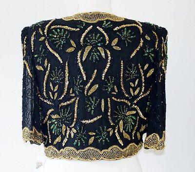 Jasdee Bolero Jacket Hand Work Bead & Sequins On Silk Style 3041 2