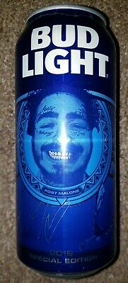 2019 Special Edition Post Malone Bud Light Can New Runaway Hollywood's Bleeding 4