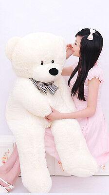 2M Giant Huge Plush Bow Tie Teddy Bears Animal Brown White Gift Present Big 5