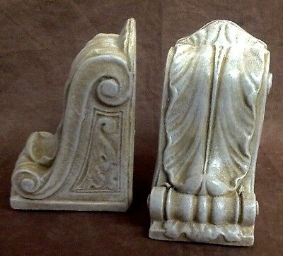 Antique Finish Shelf Acanthus Leaf Wall Corbel Sconce Bracket Pair 6