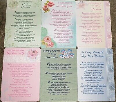 GRAVE MEMORIAL CARDS - Plastic Weatherproof - Various Relations & Christmas 3