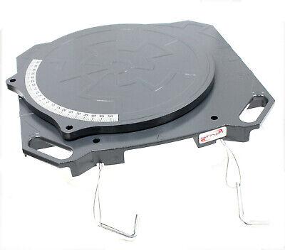 One Pair Aluminum Turntable Wheel Alignment 360° Rotating Turn Plate Table 4 Ton 4