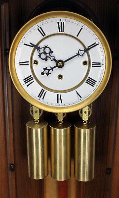 German Gustav Becker 3 Weight Grand Sonnerie Vienna Regulator Clock Movement Set 3