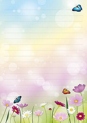 Mohn Klatschmohn 1 Schreibblock A5 50 Blatt Briefpapier Notizblock Block Blumen