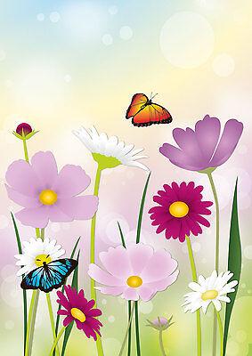 Schöne Blumenwiese 1 Schreibblock A5 50 Blatt Briefpapier Notizblock