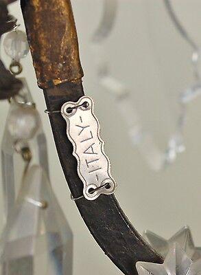 Vintage Estate Ornate Gilt Metal Vintage Crystal Chandelier 7