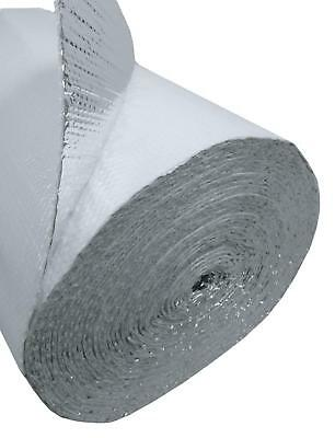 4ft x 25ft White Double Bubble Reflective Foil Insulation Thermal Barrier R8 2