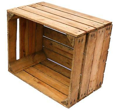 LOG BASKET / FIRE WOOD STORAGE  / FIREPLACE KINDLING BOX  Old Wooden Apple Crate 8