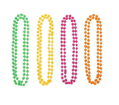 Mytoptrendz/® Long Plastic Bead Rope Necklace Classic Style Hot Pink Single Strand Bead Necklace