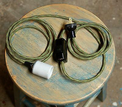 Inline Cord Switch - Leviton Rocker Style Feed Thru Switch, Lamp Wire Fans Light