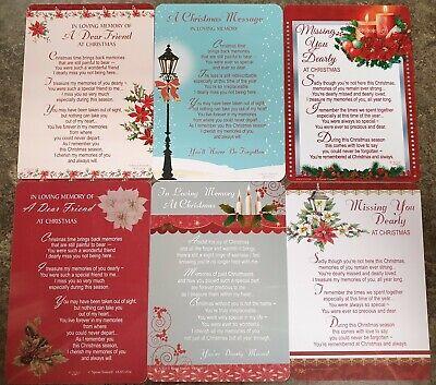 GRAVE MEMORIAL CARDS - Plastic Weatherproof - Various Relations & Christmas 12