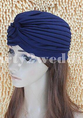 Ladies Stretch Headcover Head Wrap Beanie Chemo Bandana Animal Print Hat Turban 9