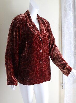 Jones New York Womens Ruby Wine Velveteen Blazer Jacket NWT $239 CARDINAL RED!