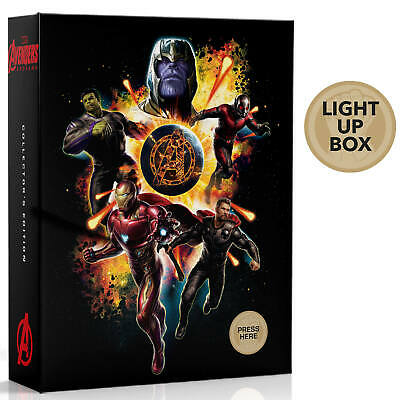 Avengers Endgame Limited Collector's Edition (Blu-ray + 4K UHD) Light Up Slipbox 2