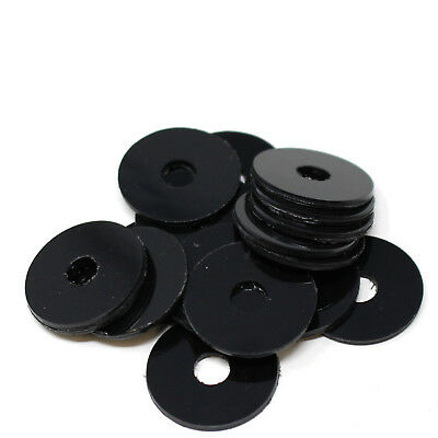 100 ASSORTED PIECE BLACK PLASTIC NYLON PENNY REPAIR WASHERS M6 x 25 M8 x 25 KIT