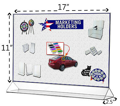 """Poster 17"""" x 11"""" Holder Table Graphic Large Horizontal Ad Frame Display 2"""