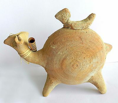 Ancient biblical Iron Age Camel Zoomorphic Roman Byzantine Pottery Clay Statue 5