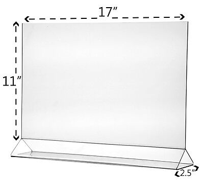"""Poster 17"""" x 11"""" Holder Table Graphic Large Horizontal Ad Frame Display 3"""