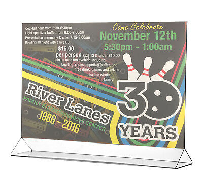 """Poster 17"""" x 11"""" Holder Table Graphic Large Horizontal Ad Frame Display 5"""