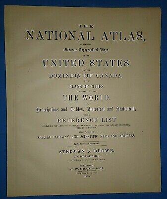 Vintage 1883 UNITED STATES HISTORICAL Maps Old Antique Original OW GRAY Atlas 4
