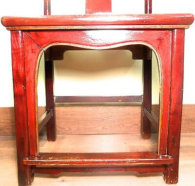 Antique Chinese High Back Chairs (5639) (Pair), Circa 1800-1849 4