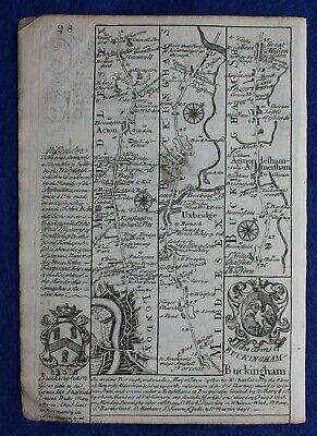 Original antique map from 'Britannia Depicta' , NORTHAMPTONSHIRE, Bowen, c.1724 2