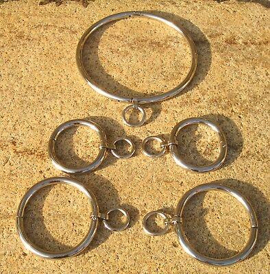 "Halsfessel Handschellen boundshop stainless steel KUB KB 895-N 12""-20"" Bondage 3"