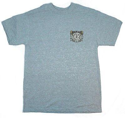 Men T Shirt Hawaii Print Surfboards Crew Neck Black Blue White Red Navy Cotton