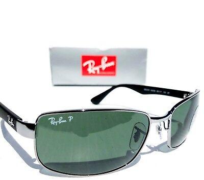 4fd08bb3820 ... NEW  Ray Ban Gunmetal   Black w POLARIZED GREEN G15 Lens Sunglass RB  3478 004