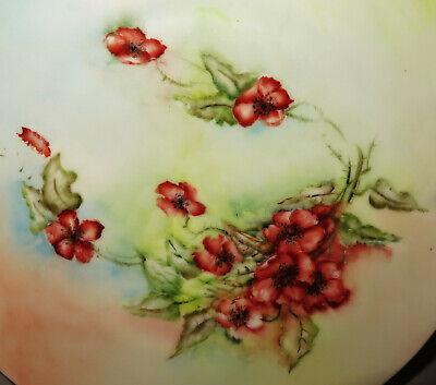 7960:Teller von KPM Carl Krister, um 1900,Goldrand, floral verziert,handbemalt. 2