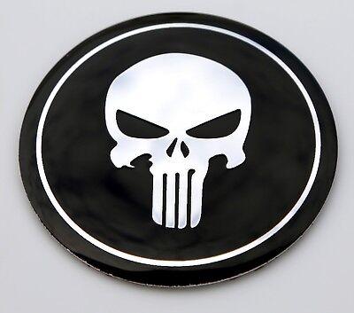Black Metal Made Skull Punisher Car Motorcycle Emblem Badge Decels Accessories