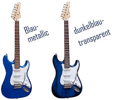 E-Gitarre MSA  Modell-ST5-weiss Top Auswahl Massivholzkörper Anschlußkabel!n