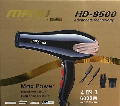 Secador de pelo profesional 6000w MAXI GOLD para 3 temperaturas 2 velocidades 3