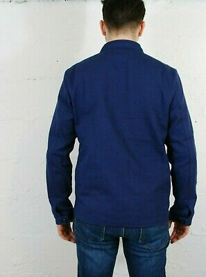 60s Style French Navy Blue Cotton Twill Canvas Chore Worker Jacket - All Sizes 5