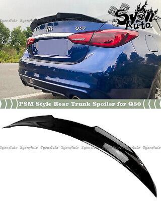 Details about  /Fits 15-20 Infiniti Q50 4DR Sedan Trunk Spoiler Painted #KH3 Black Obsidian